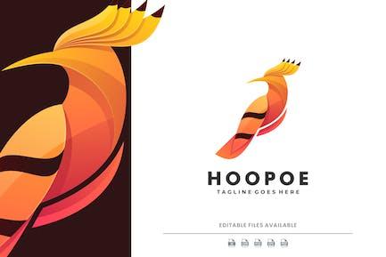 Hoopoe Bird Gradient Logo