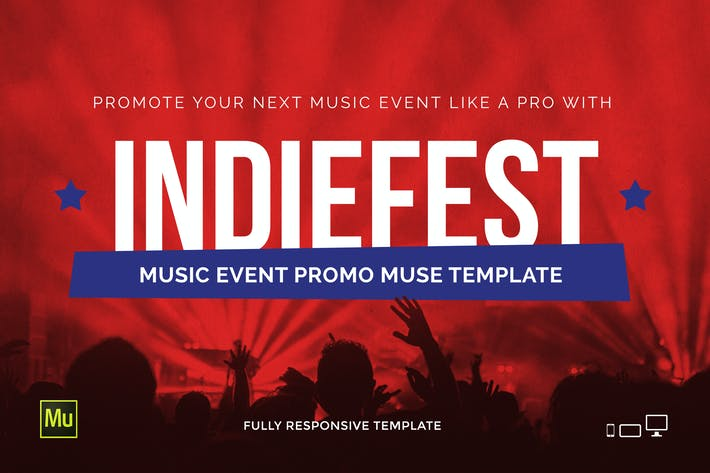 Cover Image For IndieFest - Music Event / Party Website Template