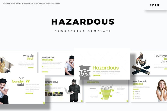 Cover Image For Hazardous - Powerpoint Template