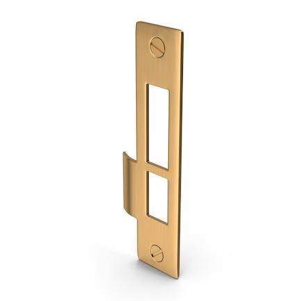 Door Lock Strike Plate Golden With Screwhead