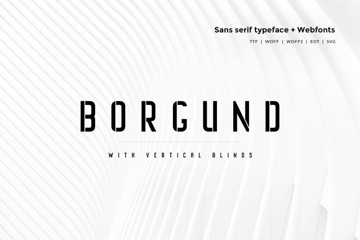 Thumbnail for Borgund Blinds - Modern Typeface + WebFont