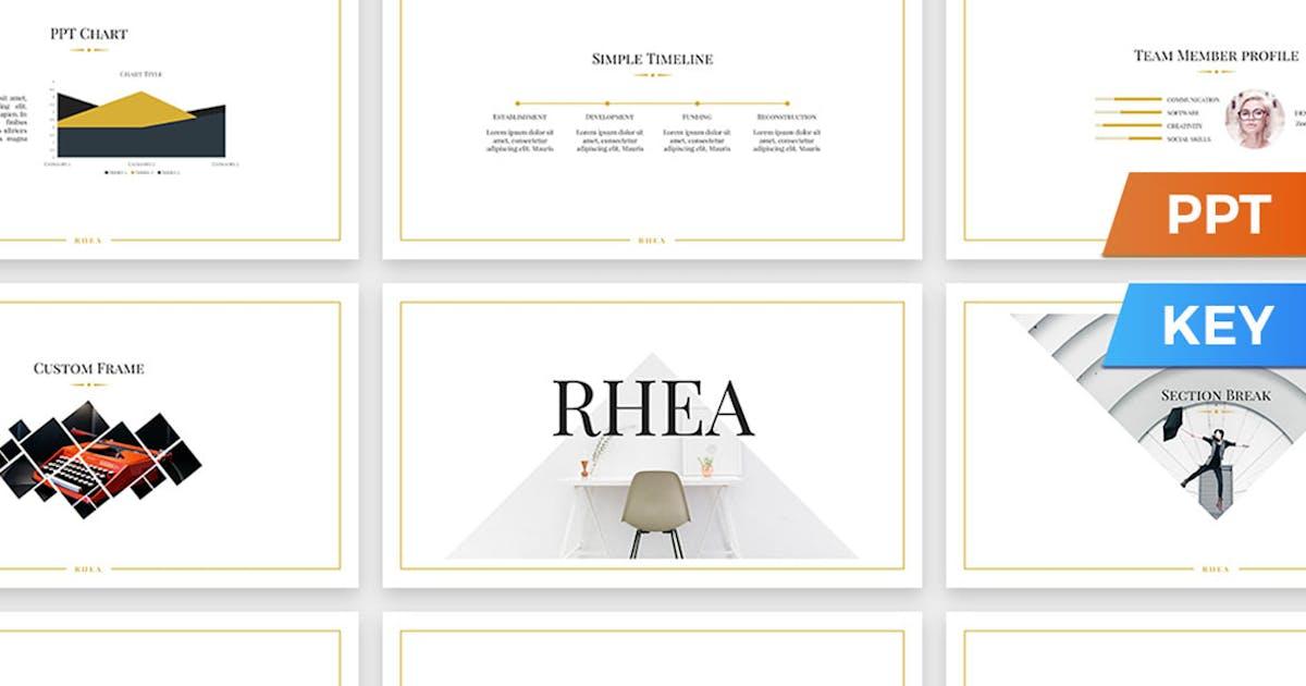 Download Rhea Presentation Template by SlideStation