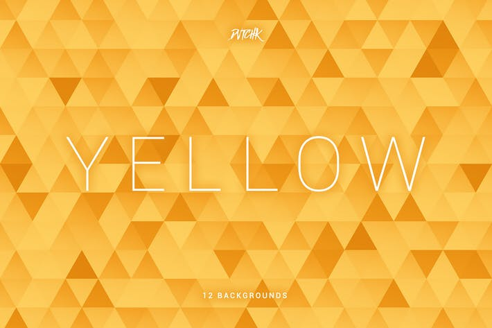 Thumbnail for Yellow | Abstract Triangles Mosaic Backgrounds