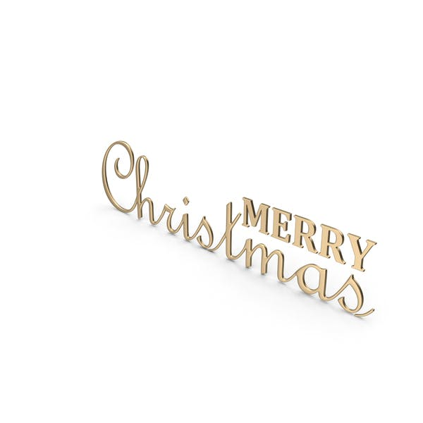 Merry Christmas Symbol Gold