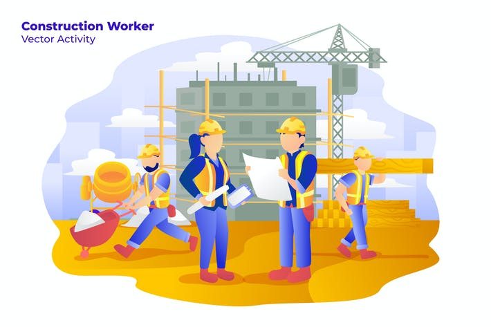 Thumbnail for Construction Worker - Vector Illustration