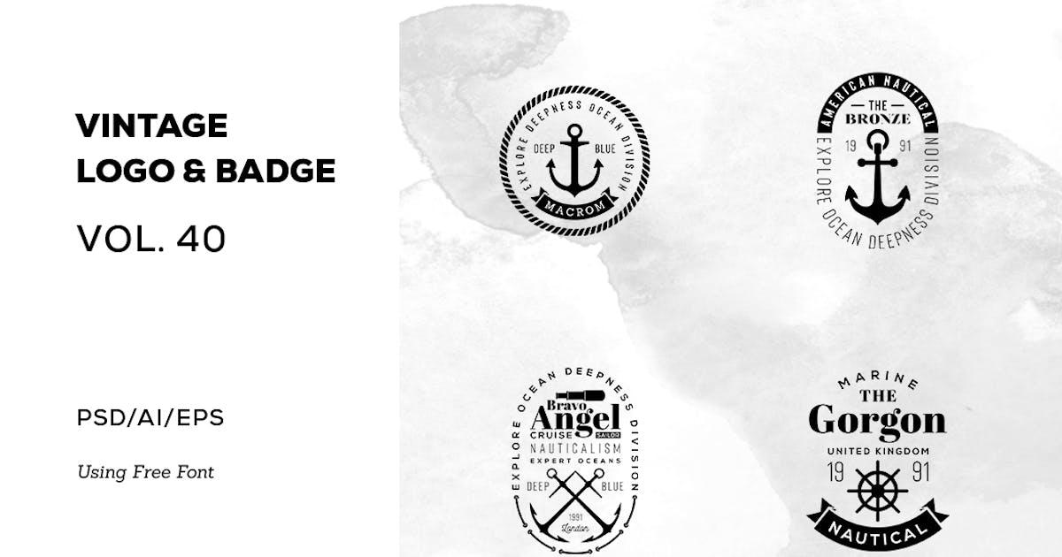 Download Vintage Logo & Badge Vol. 40 by sagesmask
