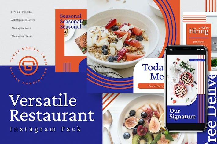 Thumbnail for Vielseitiges Restaurant Menü Insta Pack
