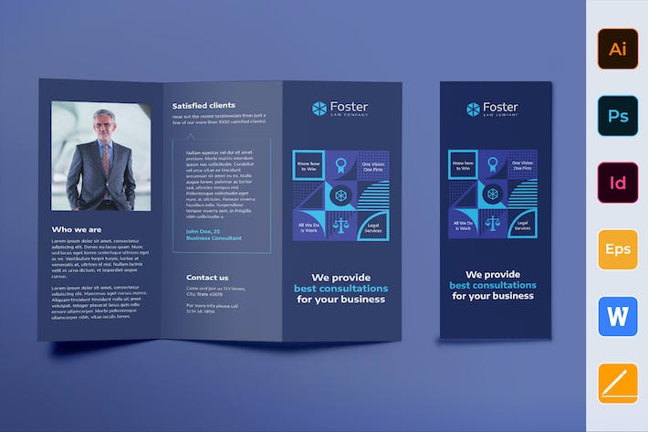 Law Company Brochure Trifold
