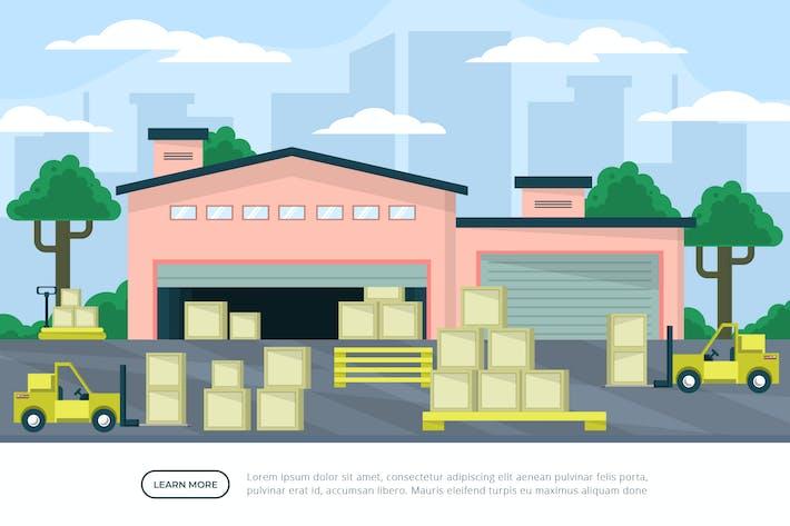 Warehouse - Background Illustration