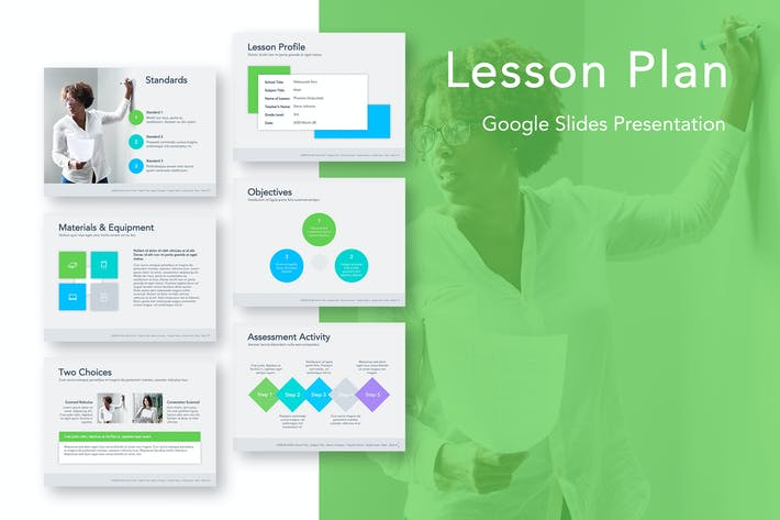 Thumbnail for Lesson Plan Google Slides Template