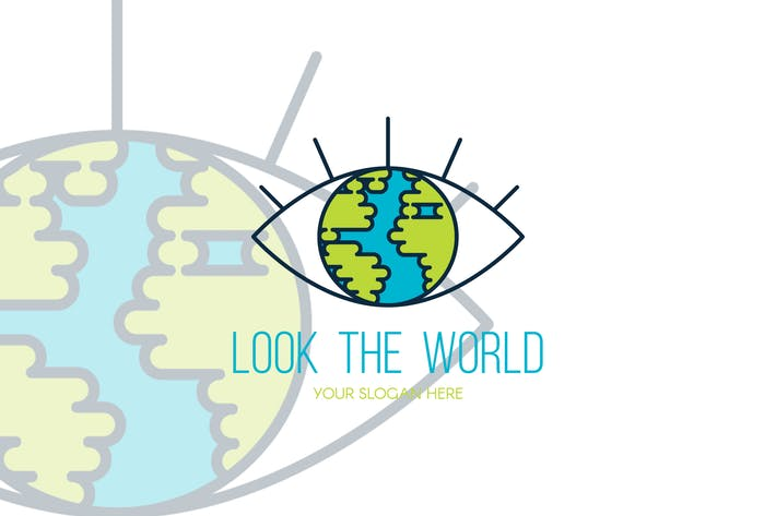 Thumbnail for Look The World Logo Template