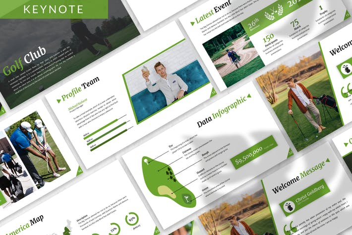 Thumbnail for Golf - Sport Business Keynote Template