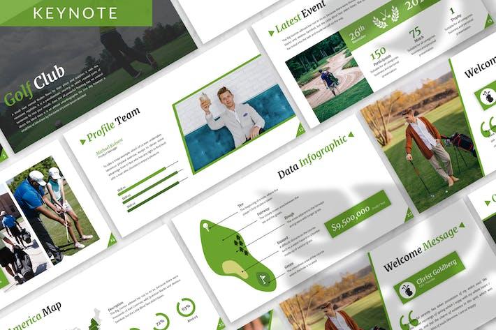 Thumbnail for Golf - Sport Business Keynote Vorlage