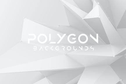 White Sharp Polygon Background Set