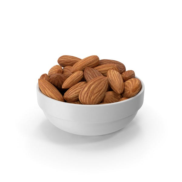 Thumbnail for Almonds in White Bowl