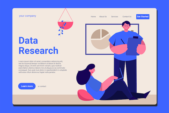 Data Research - Landing Page
