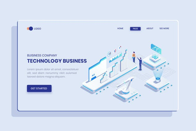 Technology Business Ideas Isometric Vector Concept