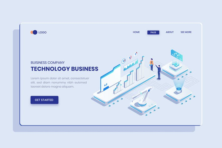 Thumbnail for Technology Business Ideas Isometric Vector Concept