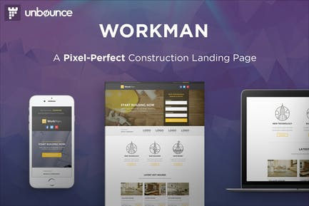 WorkMan - Construction Unbounce Landing page