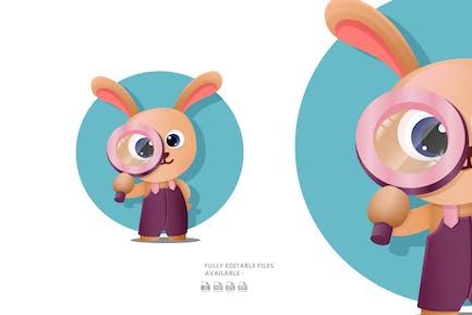 Cute Cartoon Bunny Illustration