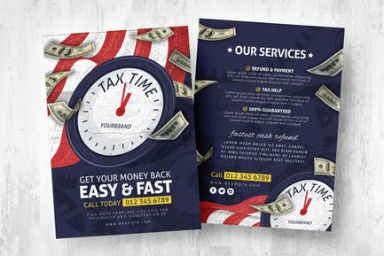 Tax Time Service Flyers