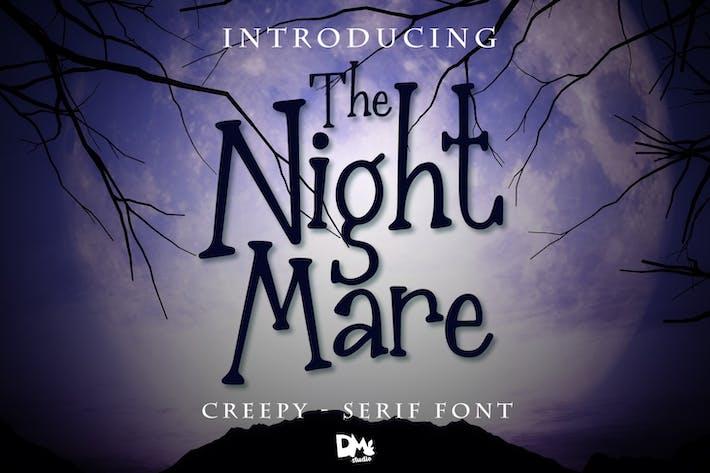 Thumbnail for The Nightmare - Creepy Serif Font
