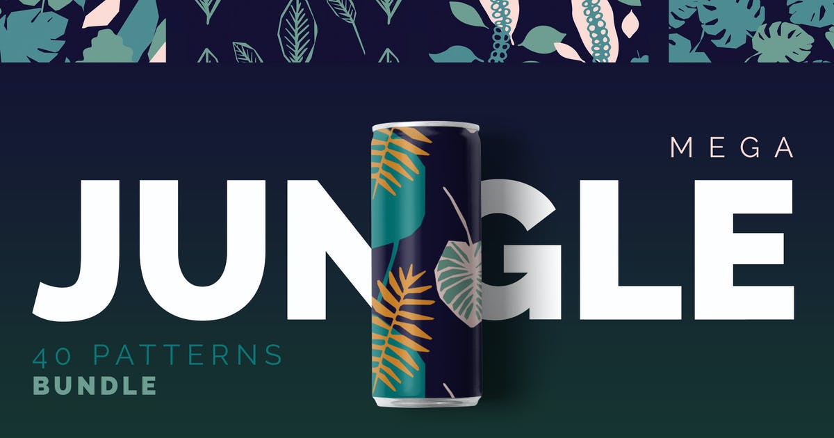 Download Jungle Patterns Collection by Youandigraphics