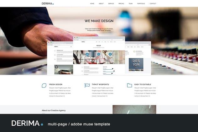 Derima - Multi-Purpose Muse Template - product preview 4