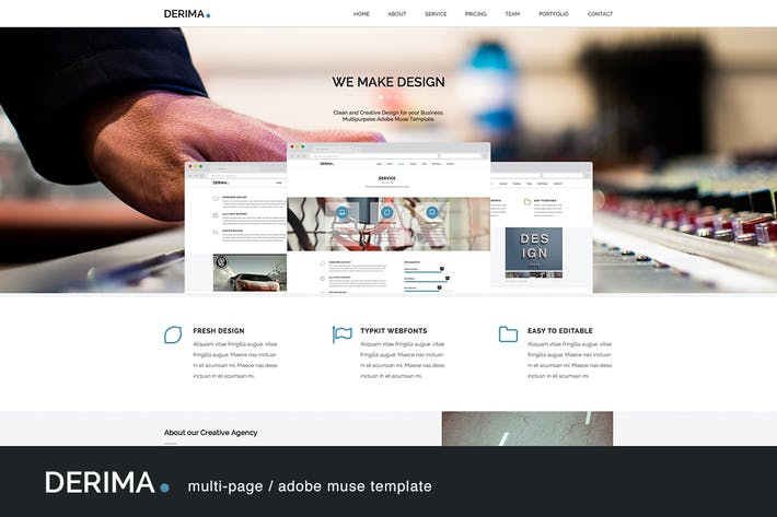 Thumbnail for Derima - Multi-Purpose Muse Template