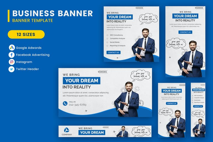 Bussiess Google Adwords Banner Template