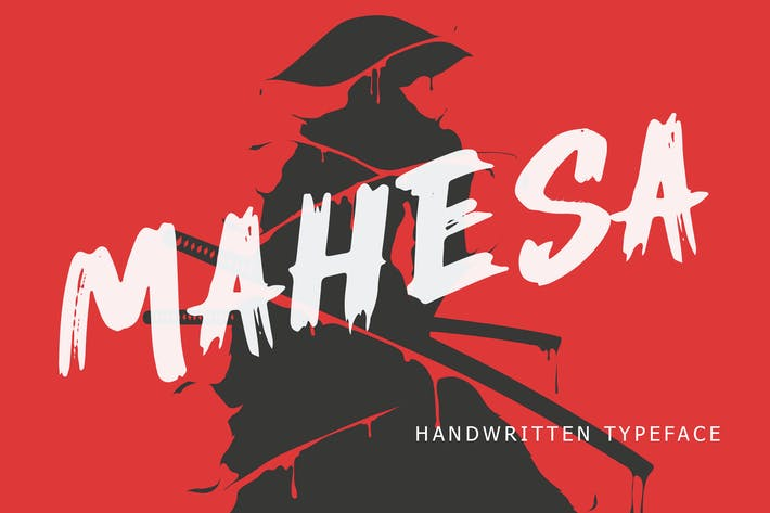 Thumbnail for Mahesa Handwritten Brush Font