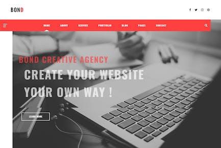 Bond - Creative Agency & Blogging HTML Template