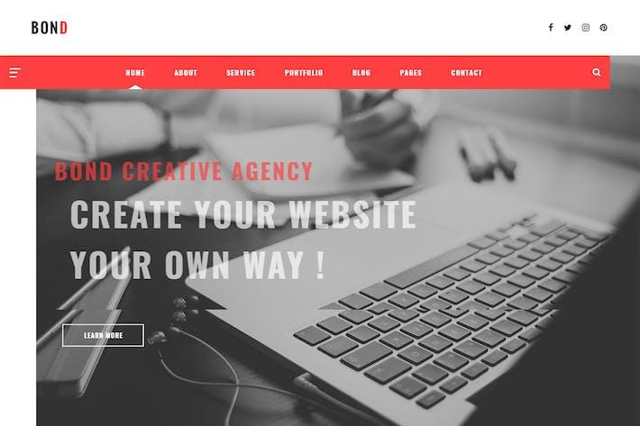 Bond - Agence Créative & Blogging Modèle HTML