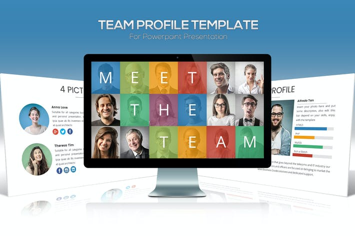 Thumbnail for Team Profile Powerpoint Template