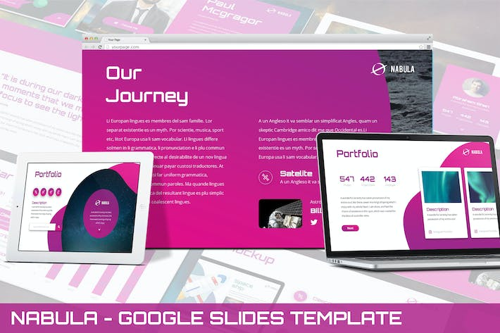 Thumbnail for Nabula - Scientific Google Slides Template