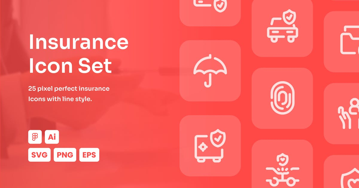 Download Insurance Dashed Line Icon Set by mhudaaa