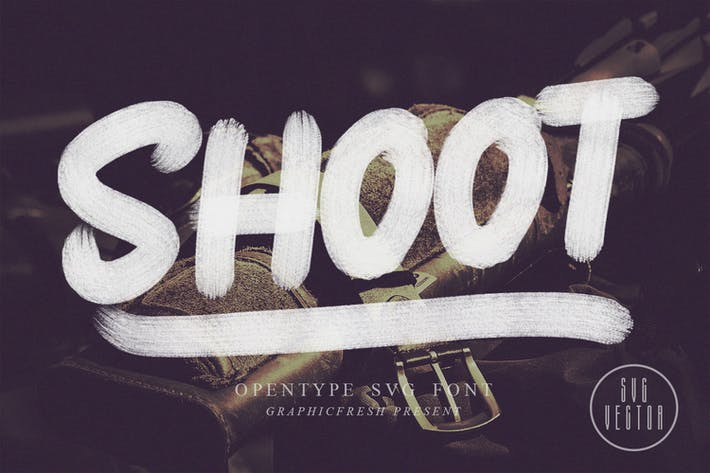 Cover Image For Shoot SVG Font