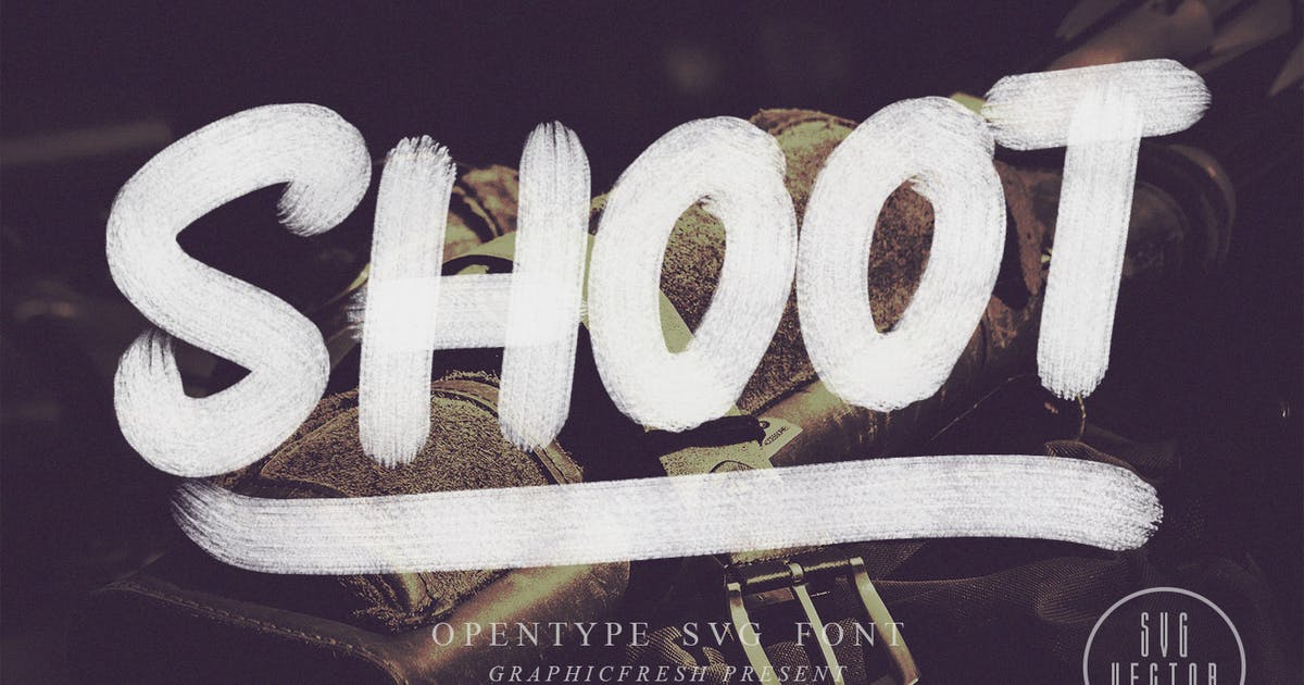 Download Shoot SVG Font by sameehmedia