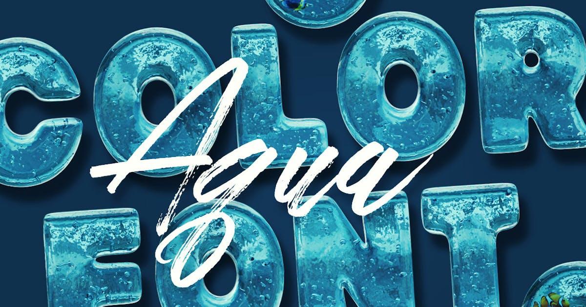 Download Aqua Color Font by cruzine