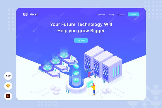 Future Technology - Website Header - Illustration
