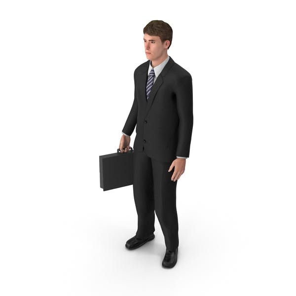 Thumbnail for Businessman John Holding Briefcase