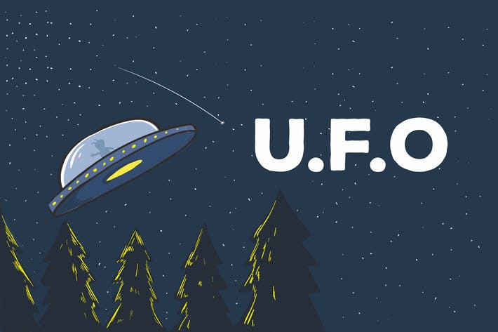 Thumbnail for UFO Vector Illustration Artwork