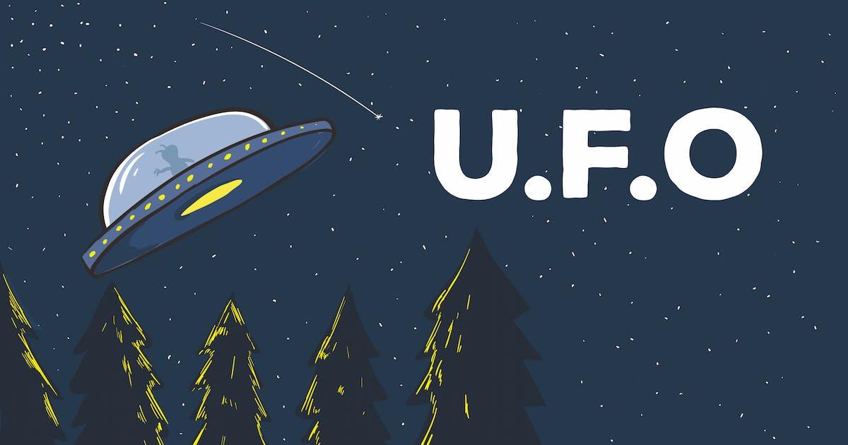 Download UFO Vector Illustration Artwork by peterdraw