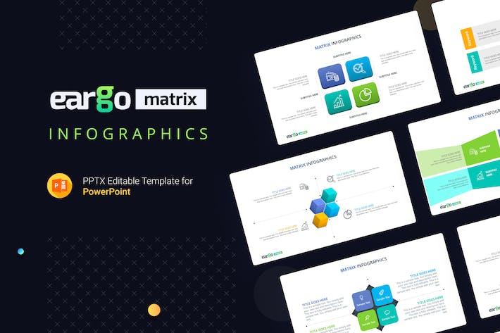 Thumbnail for Eargo Matrix Infografiken PowerPoint Vorlage