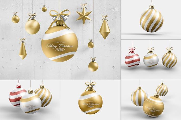 Thumbnail for Christmas Ball Mock-up 3