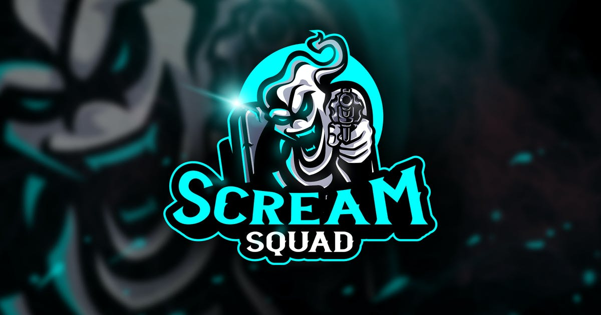 Download Scream Squad - Mascot & Esport Logo by aqrstudio