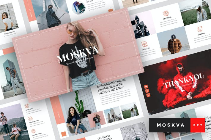 Thumbnail for Moskva - Fashion PowerPoint Template