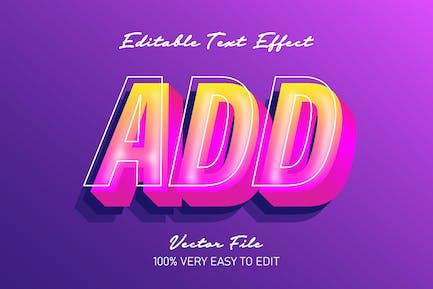 Fresh pink text effect