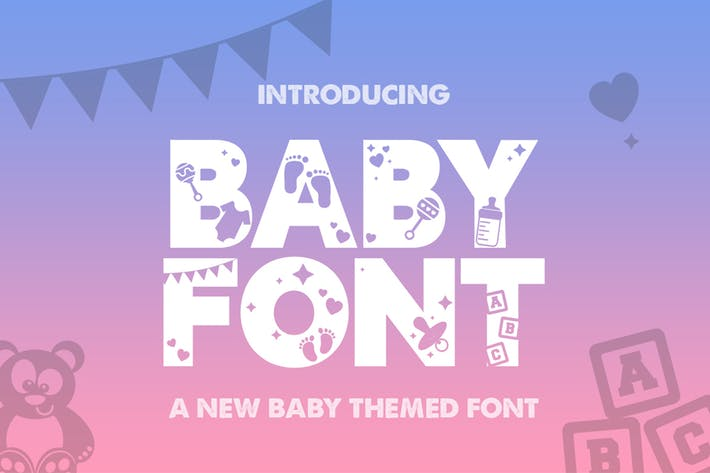 Thumbnail for Baby Silhouette Font