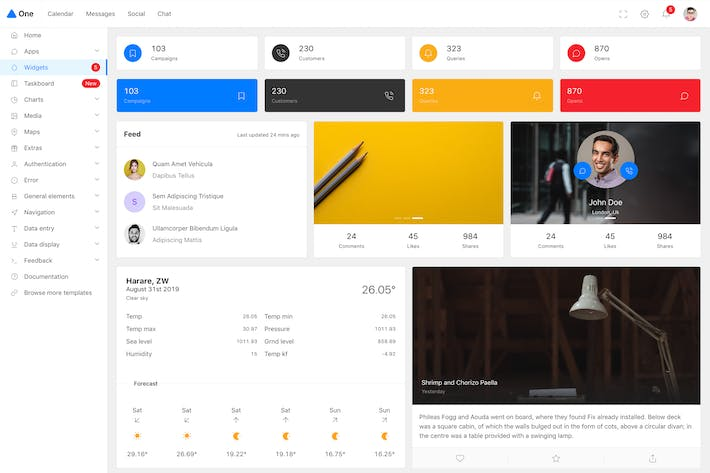 Thumbnail for One - React Next.js & Ant Design Admin Template